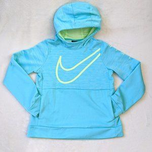 Nike Youth DriFit Blue & Neon Yellow Hoodie XL